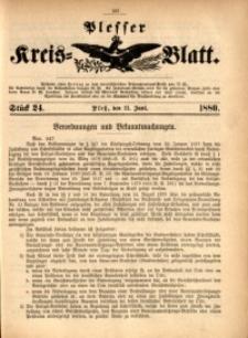 Plesser Kreis-Blatt, 1880, St. 24