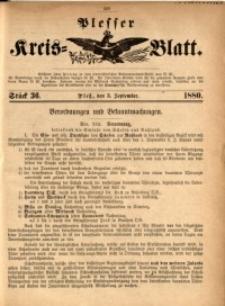 Plesser Kreis-Blatt, 1880, St. 36