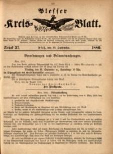 Plesser Kreis-Blatt, 1880, St. 37