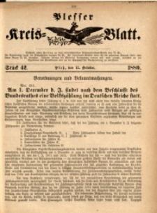 Plesser Kreis-Blatt, 1880, St. 42