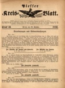 Plesser Kreis-Blatt, 1880, St. 43