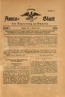 Amts-Blatt der Regierung zu Oppeln für 1934, Bd. 119, St. 1