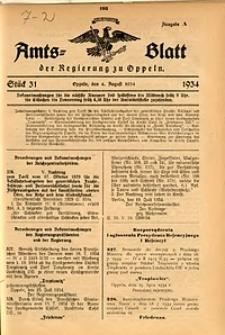 Amts-Blatt der Regierung zu Oppeln für 1934, Bd. 119, St. 31
