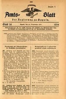 Amts-Blatt der Regierung zu Oppeln für 1934, Bd. 119, St. 38