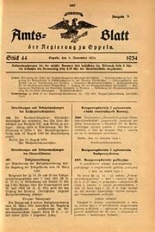 Amts-Blatt der Regierung zu Oppeln für 1934, Bd. 119, St. 44