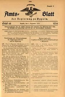 Amts-Blatt der Regierung zu Oppeln für 1934, Bd. 119, St. 48