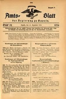 Amts-Blatt der Regierung zu Oppeln für 1934, Bd. 119, St. 52