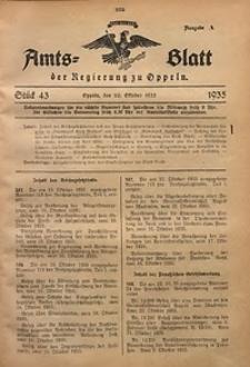 Amts-Blatt der Regierung zu Oppeln für 1935, Bd. 120, St. 43