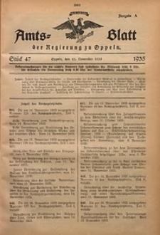 Amts-Blatt der Regierung zu Oppeln für 1935, Bd. 120, St. 47