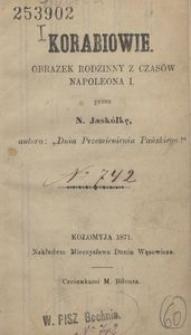 Korabiowie. Obrazek rodzinny z czasów Napoleona I