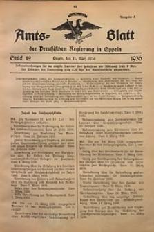 Amts-Blatt der Preußischen Regierung in Oppeln für 1936, Bd. 121, St. 12