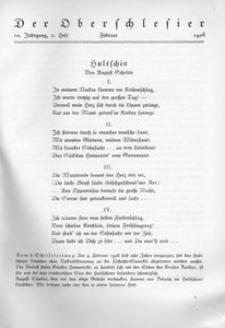 Der Oberschlesier, 1928, Jg. 10, Heft 2