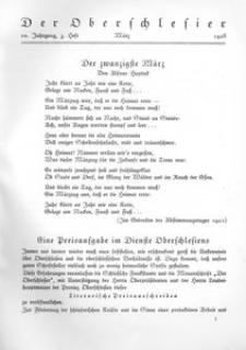 Der Oberschlesier, 1928, Jg. 10, Heft 3