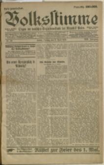 Volksstimme : Organ der deutschen Sozialdemokratie der Republik Polen, 1924, Nry 29, 61, 62, 66, 70, 72-80, 83, 85-94, 97, 100