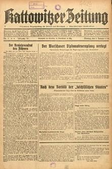 Kattowitzer Zeitung, 1938, Jg. 70, Nr. 1