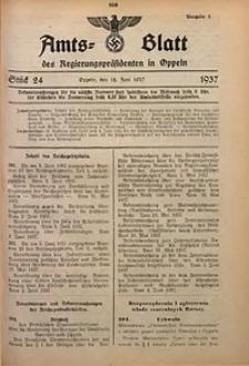 Amts-Blatt des Regierungspräsidenten in Oppeln für 1937, Bd. 122, St. 24