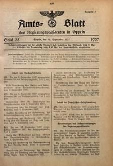 Amts-Blatt des Regierungspräsidenten in Oppeln für 1937, Bd. 122, St. 38