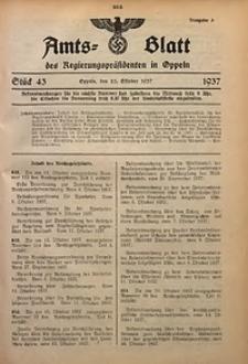Amts-Blatt des Regierungspräsidenten in Oppeln für 1937, Bd. 122, St. 43