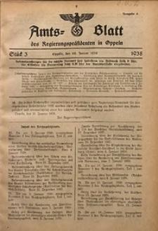 Amts-Blatt des Regierungspräsidenten in Oppeln für 1938, Bd. 123, St. 3
