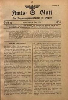 Amts-Blatt des Regierungspräsidenten in Oppeln für 1938, Bd. 123, St. 15