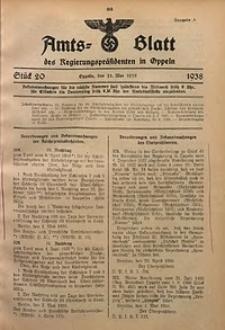 Amts-Blatt des Regierungspräsidenten in Oppeln für 1938, Bd. 123, St. 20