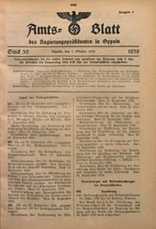 Amts-Blatt des Regierungspräsidenten in Oppeln für 1938, Bd. 123, St. 39