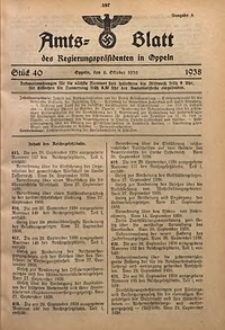 Amts-Blatt des Regierungspräsidenten in Oppeln für 1938, Bd. 123, St. 40