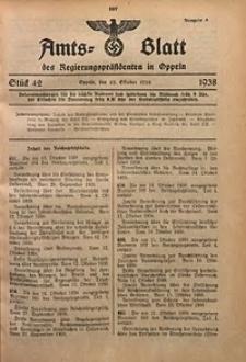 Amts-Blatt des Regierungspräsidenten in Oppeln für 1938, Bd. 123, St. 42