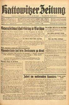 Kattowitzer Zeitung, 1938, Jg. 70, Nr. 43