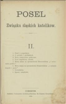 Poseł Związku Śląskich Katolików, 1884, II