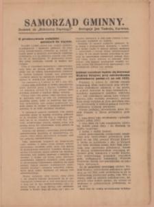 Samorząd Gminny, 1932, Nry 2, 11, 33, 37