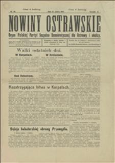 Nowiny Ostrawskie, 1915, Nr 26