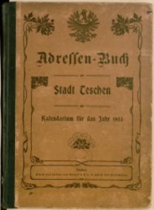 Adressen-Buch der Stadt Teschen, 1903