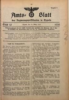 Amts-Blatt des Regierungspräsidenten in Oppeln für 1939, Bd. 124, St. 10