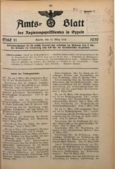 Amts-Blatt des Regierungspräsidenten in Oppeln für 1939, Bd. 124, St. 11