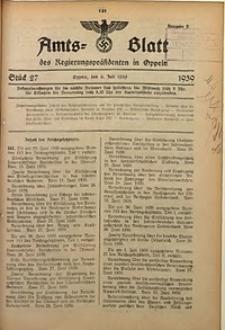 Amts-Blatt des Regierungspräsidenten in Oppeln für 1939, Bd. 124, St. 27