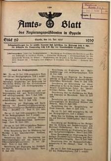 Amts-Blatt des Regierungspräsidenten in Oppeln für 1939, Bd. 124, St. 29