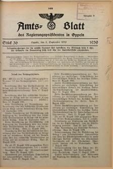 Amts-Blatt des Regierungspräsidenten in Oppeln für 1939, Bd. 124, St. 36