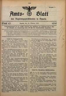 Amts-Blatt des Regierungspräsidenten in Oppeln für 1939, Bd. 124, St. 43