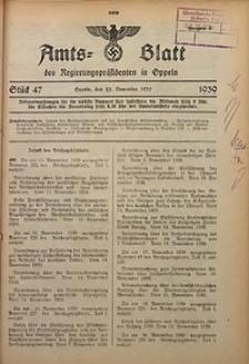 Amts-Blatt des Regierungspräsidenten in Oppeln für 1939, Bd. 124, St. 47