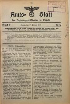 Amts-Blatt des Regierungspräsidenten in Oppeln für 1940, Bd. 125, St. 7