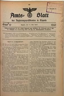 Amts-Blatt des Regierungspräsidenten in Oppeln für 1940, Bd. 125, St. 19