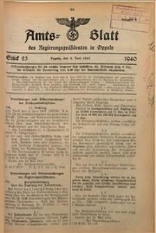 Amts-Blatt des Regierungspräsidenten in Oppeln für 1940, Bd. 125, St. 23