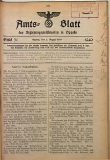 Amts-Blatt des Regierungspräsidenten in Oppeln für 1940, Bd. 125, St. 31