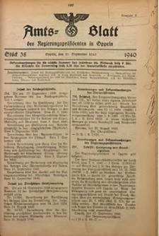 Amts-Blatt des Regierungspräsidenten in Oppeln für 1940, Bd. 125, St. 38