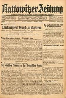 Kattowitzer Zeitung, 1938, Jg. 70, Nr. 256