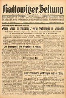 Kattowitzer Zeitung, 1938, Jg. 70, Nr. 270