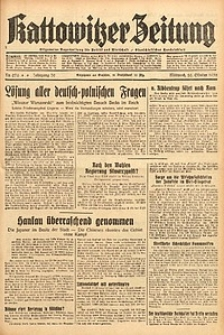 Kattowitzer Zeitung, 1938, Jg. 70, Nr. 276