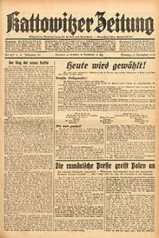 Kattowitzer Zeitung, 1938, Jg. 70, Nr. 287