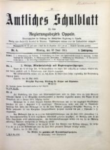 Amtliches Schulblatt für den Regirungsbezirk Oppeln, 1913, Jg. 1, Nr. 6